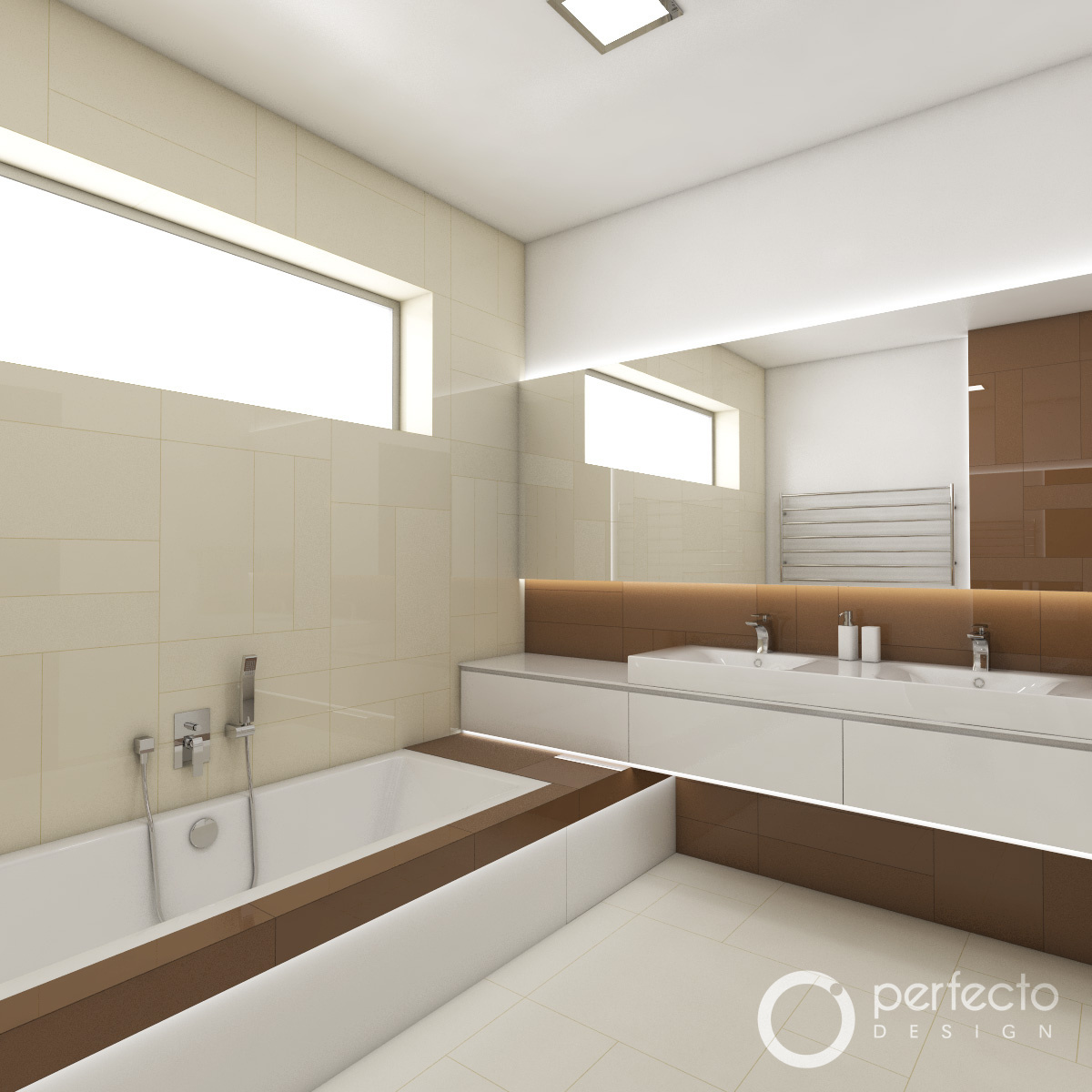 modernes badezimmer latte | perfecto design, Badezimmer ideen