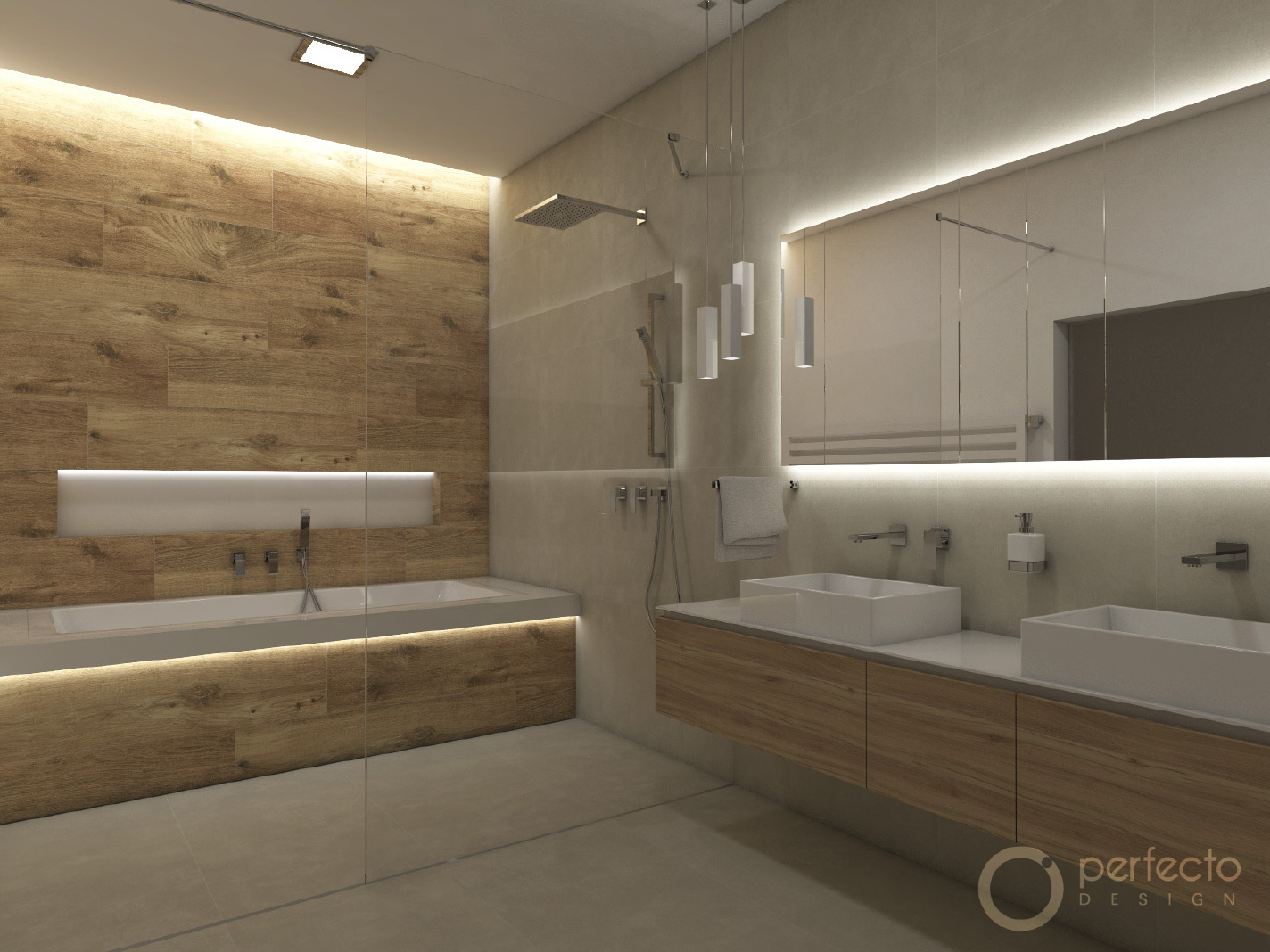 Modernes Badezimmer SAND  Perfecto design