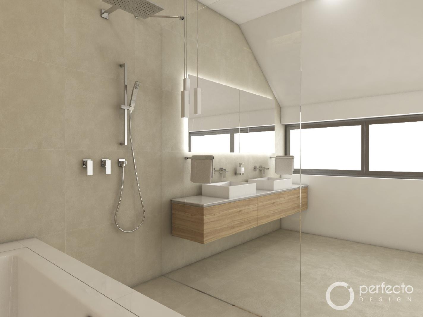 Modernes Badezimmer SAND - Visualisierung